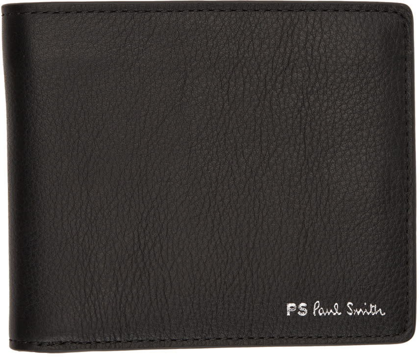 Ps By Paul Smith Black Leather Billfold Wallet