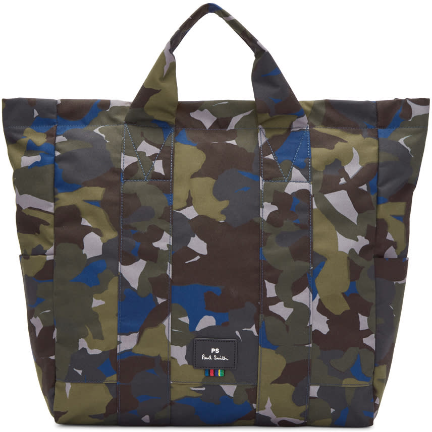 Ps By Paul Smith Multicolor Camouflage Tote