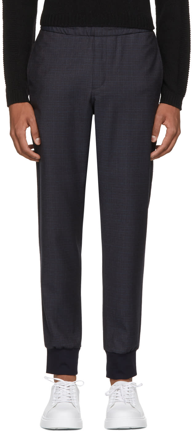 c212ac4f0 Ps By Paul Smith Navy Plaid Drawcord Trousers