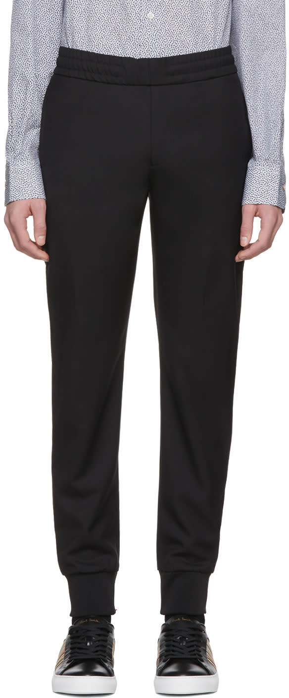 Ps By Paul Smith Black Drawscord Trousers