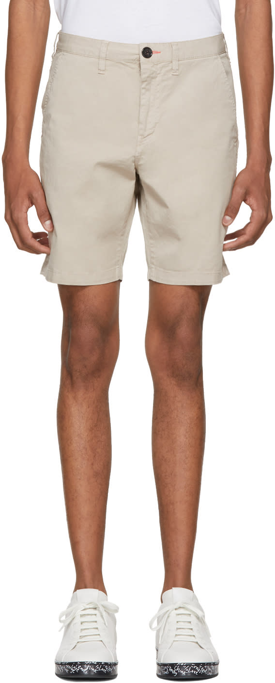 Image of Ps By Paul Smith Beige Standard Fit Shorts