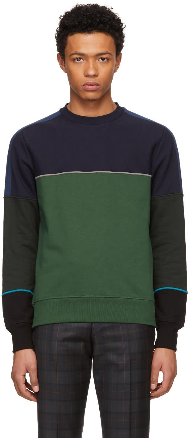 Ps By Paul Smith Multicolor Colorblock Crewneck Sweatshirt