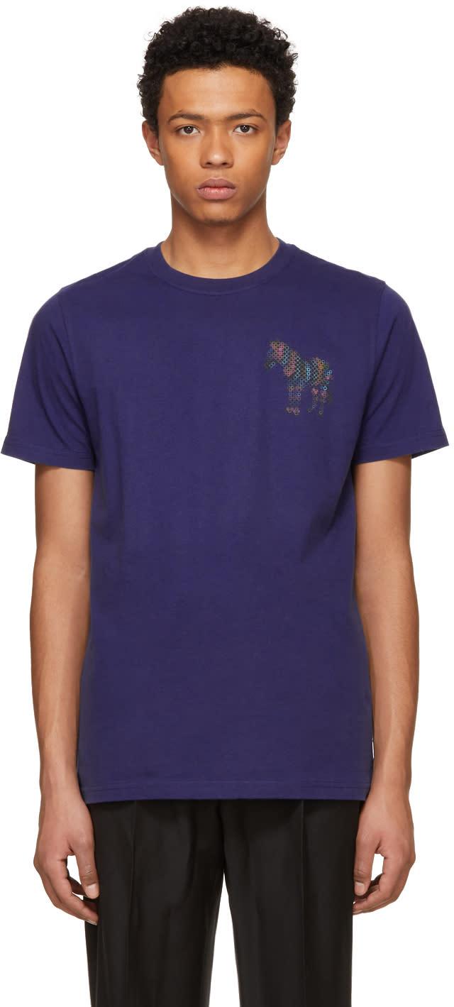 Ps By Paul Smith Indigo Mini Zebra T Shirt
