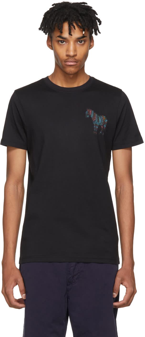 Ps By Paul Smith Black Mini Zebra Slim Fit T Shirt