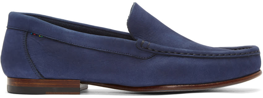 Ps By Paul Smith Navy Nubuck Danny Loafers