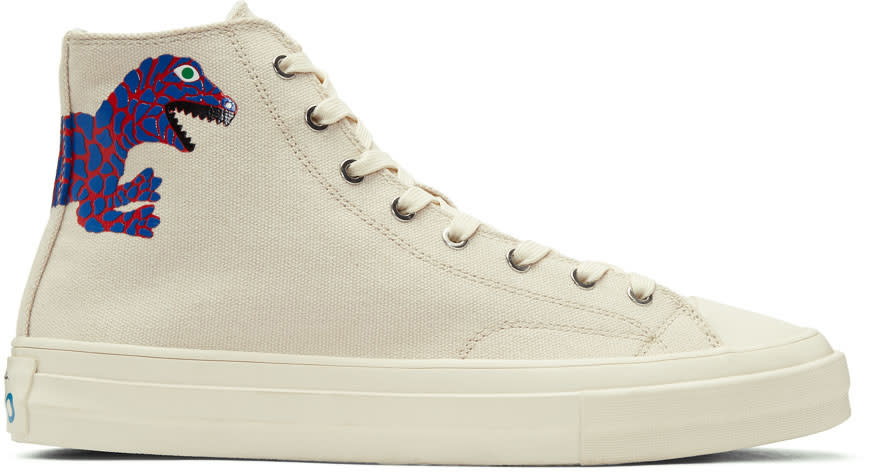 Ps By Paul Smith Off-white Kirk Dino High-top Sneakers