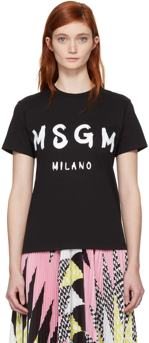 fb4d2f45b Msgm Black Milano Logo T shirt