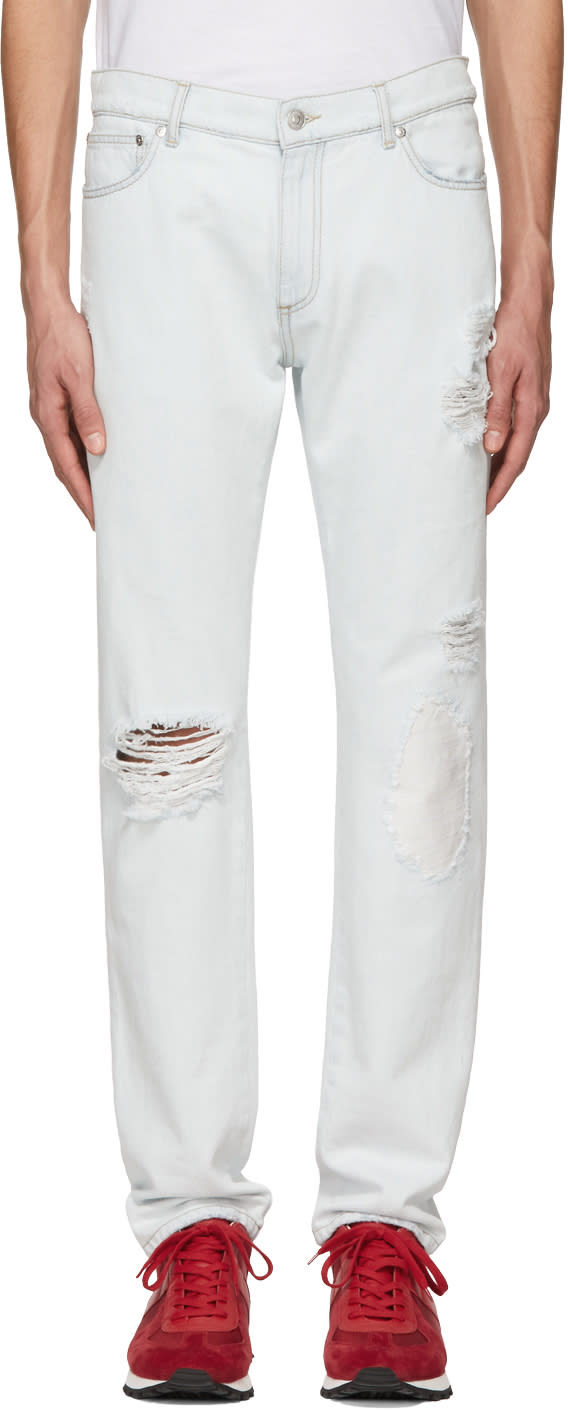 4be54d8a59f Msgm Blue Light Denim Pocket Detail Jeans