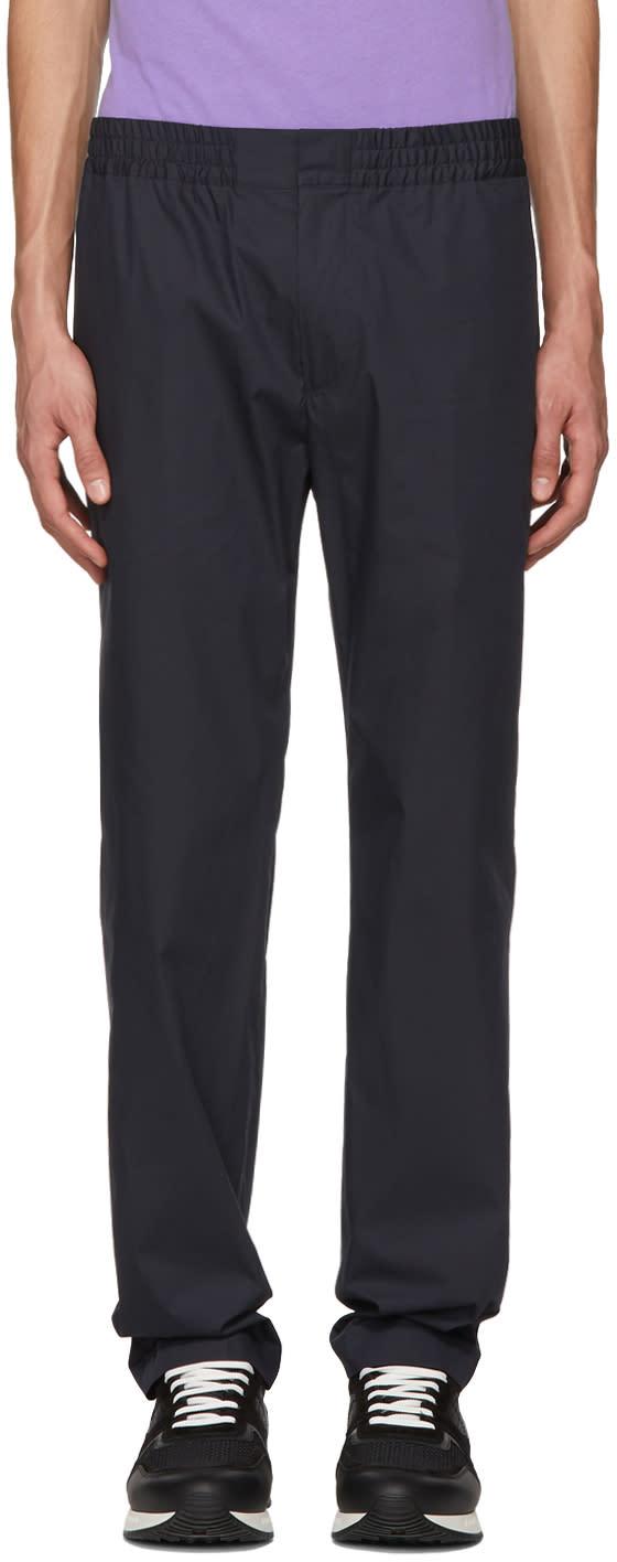 Msgm Pantalon à Taille élastique Bleu Marine