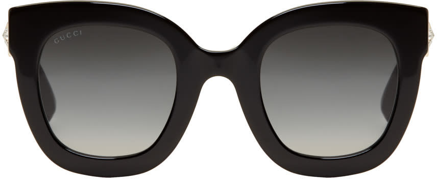 67181290c02 Gucci Black Round Crystal Star Sunglasses