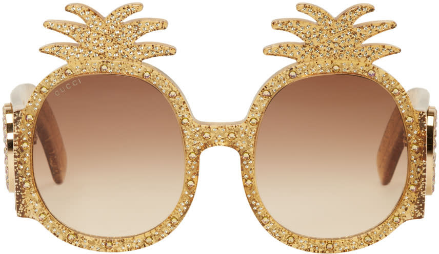 e7408782b0b Gucci Yellow Pineapple Glitter Sunglasses
