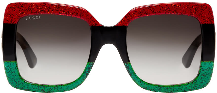 342fc6e1d0b Gucci Red and Green Urban Web Block Diva Sunglasses