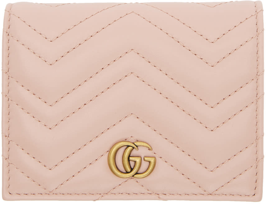 e345a1908a89 Gucci Pink Small Gg Marmont Wallet