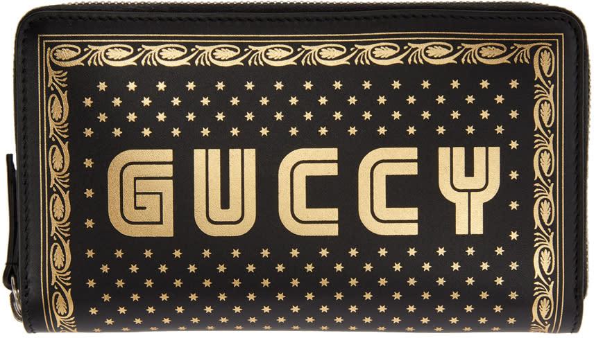Gucci ブラック Sega Guccy ジップ ウォレット