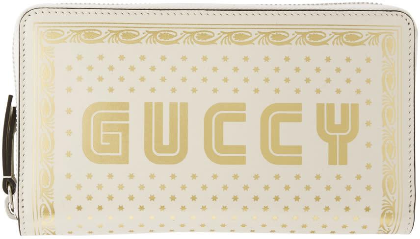 Gucci ホワイト Sega Guccy ロゴ ウォレット
