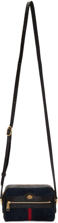 eba650266 Gucci Navy Suede Mini Ophidia Bag