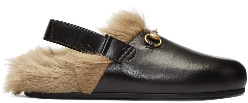 Gucci-Black-Horsebit-River-Slippers