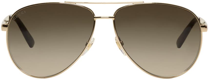 b738d3786ded7 Gucci Gold Sensual Romanticism Aviator Sunglasses