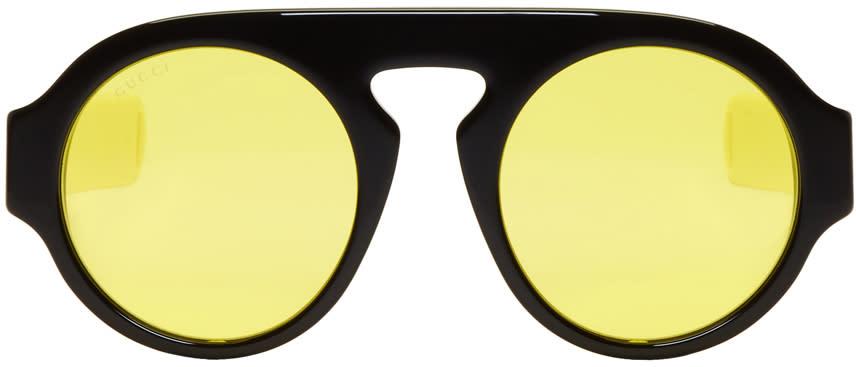3bca54865b Gucci Black Round gucci Sport Sunglasses