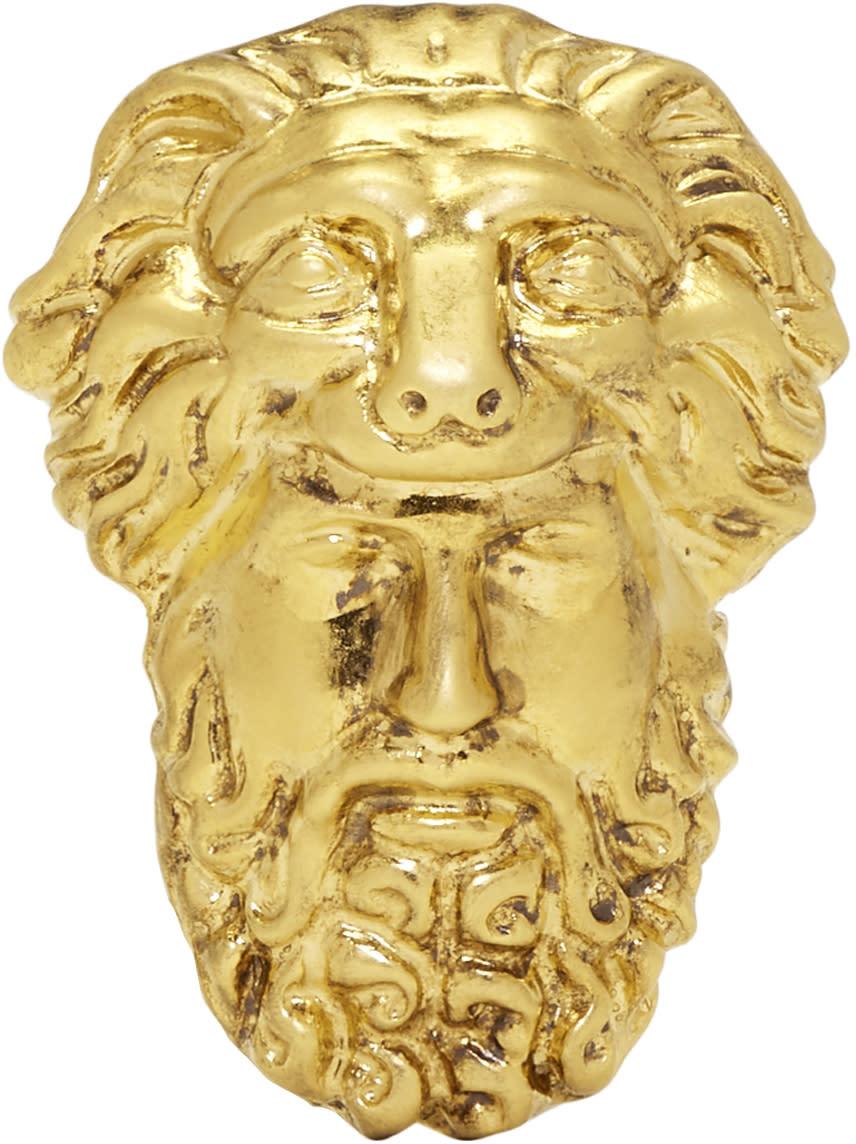 b503d81eb1c91e Gucci Gold Hercules Mask Ring