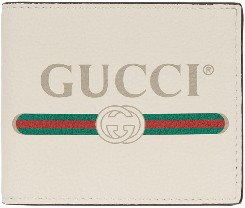 ac5c0ab1af1 Gucci White Logo Wallet