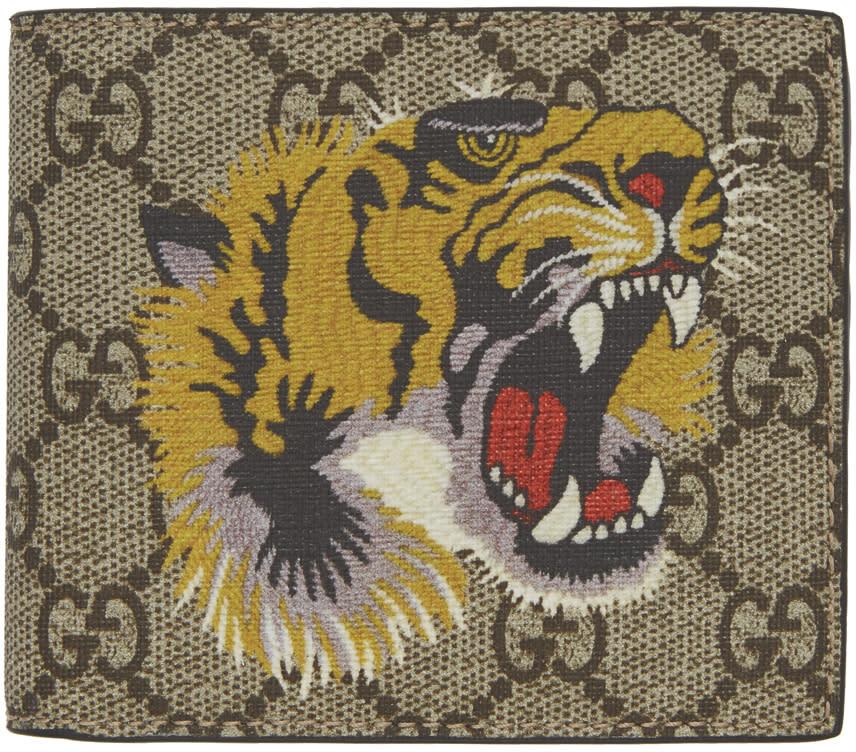 18dd1c4b5 Gucci Beige Gg Supreme Tiger Wallet