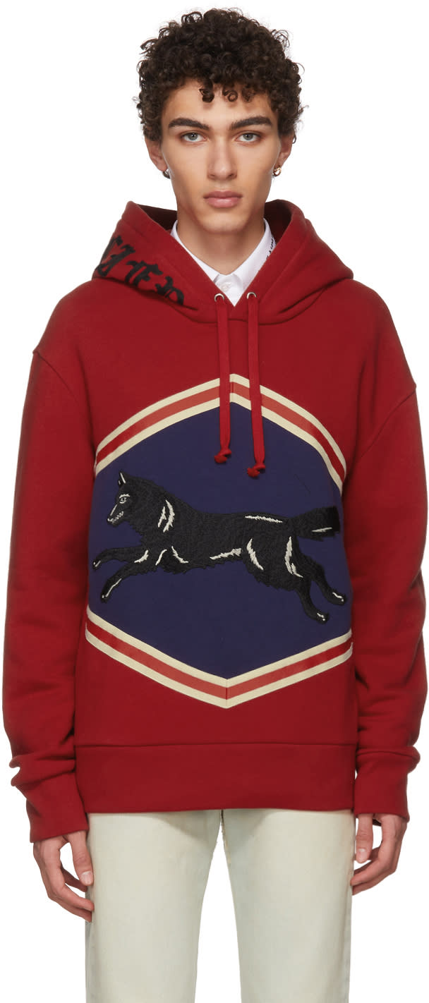 21fc8df7dbf Gucci Red Jumping Wolf Hoodie