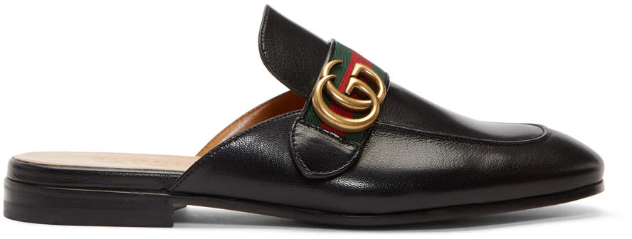 b569afe8e Gucci Black Gg Princetown Slippers