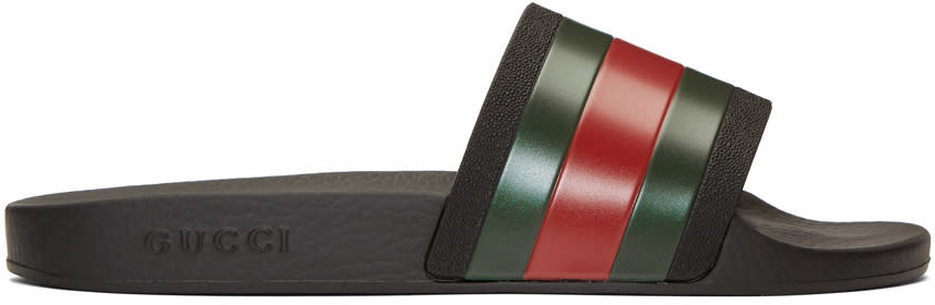 Gucci Black Pursuit Sandals
