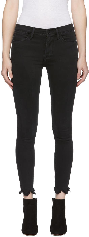 Frame Denim Black Le High Skinny Jeans