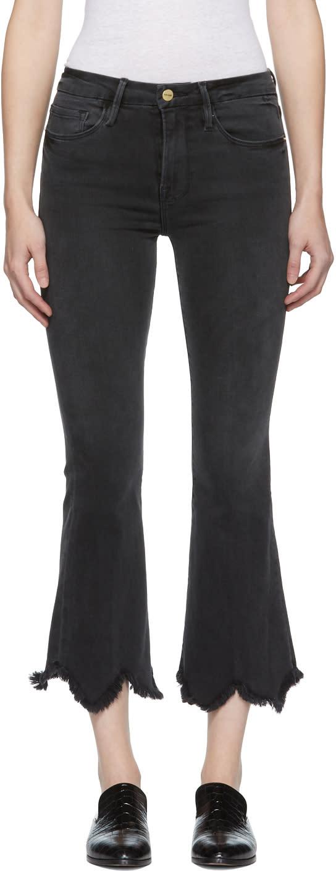 Image of Frame Denim Black le Crop Mini Boot Jeans
