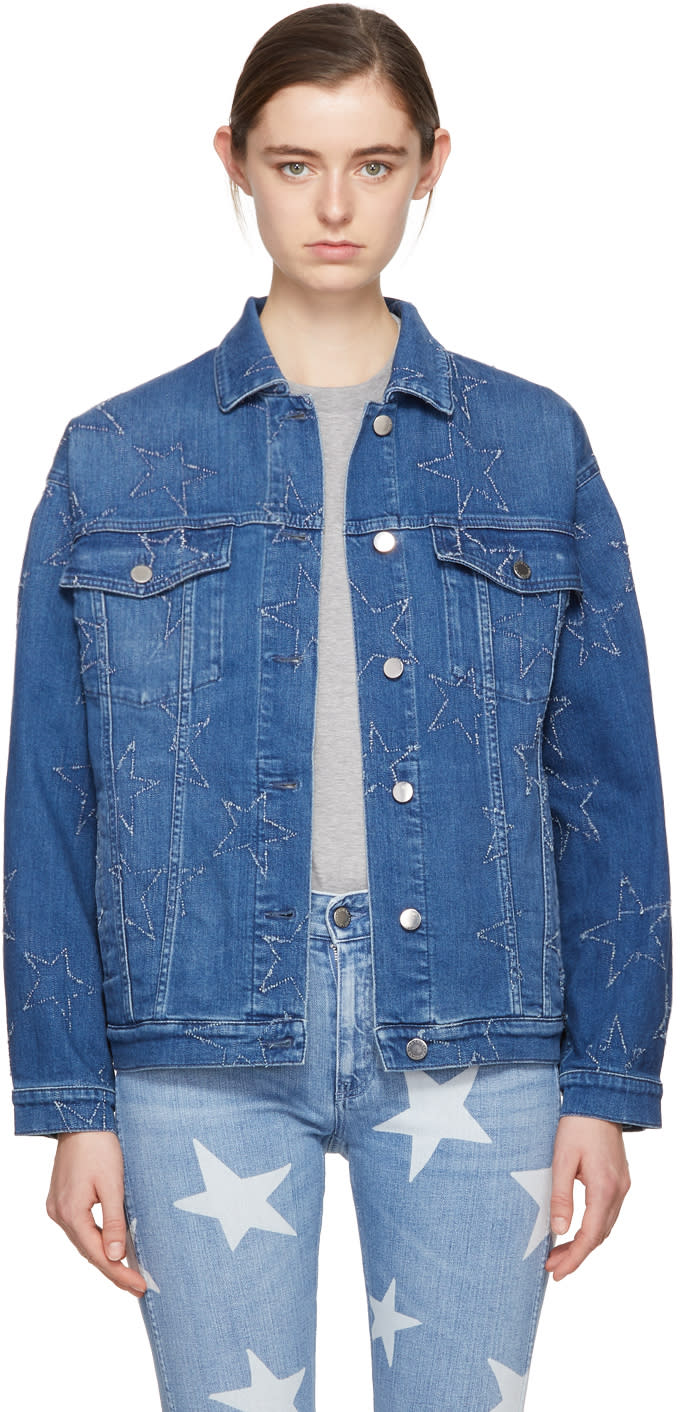 Stella Mccartney Blue Denim Stars Jacket