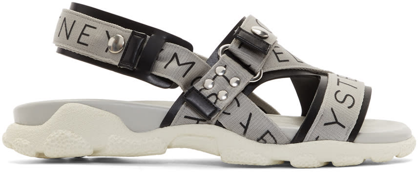 Stella Mccartney Grey Logo Sandals