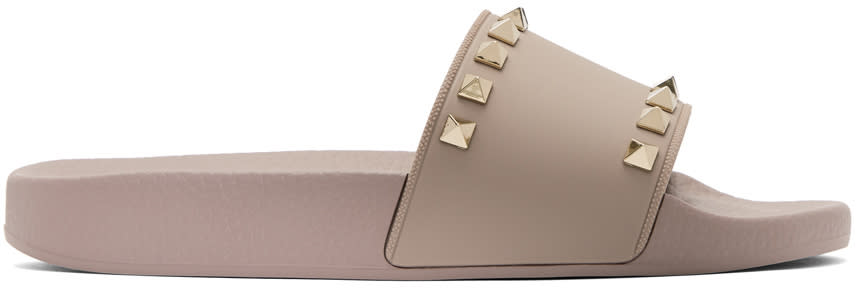 Valentino Pink Valentino Garavani Rockstud Slides