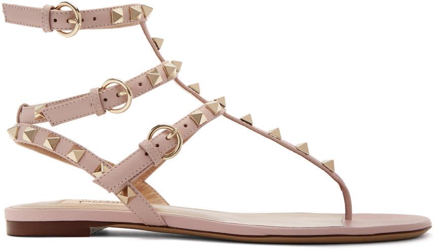 Valentino Pink Valentino Garavani Rockstud Cage Sandals