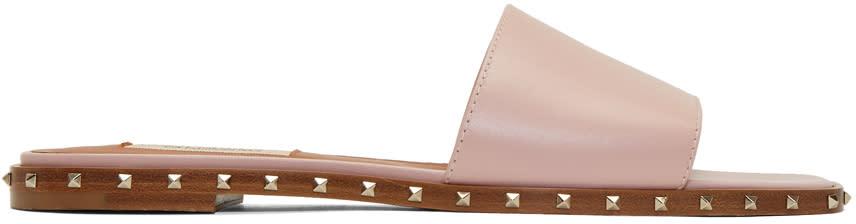 Valentino Pink Valentino Garavani Rockstud Sole Sandals