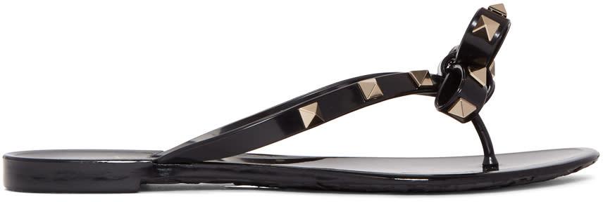 ValentinoBlack Valentino Garavani Rockstud Bow Sandals