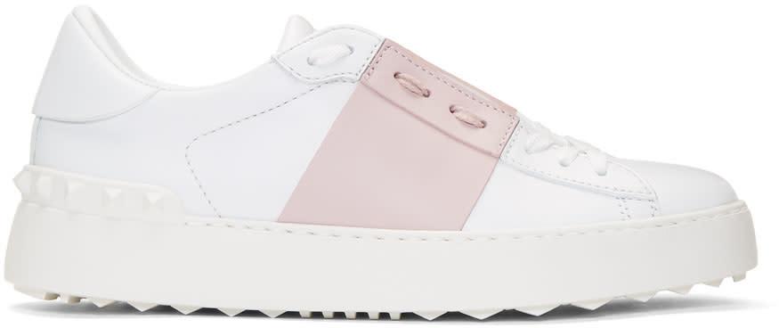ホワイト and ピンク オープン スニーカー