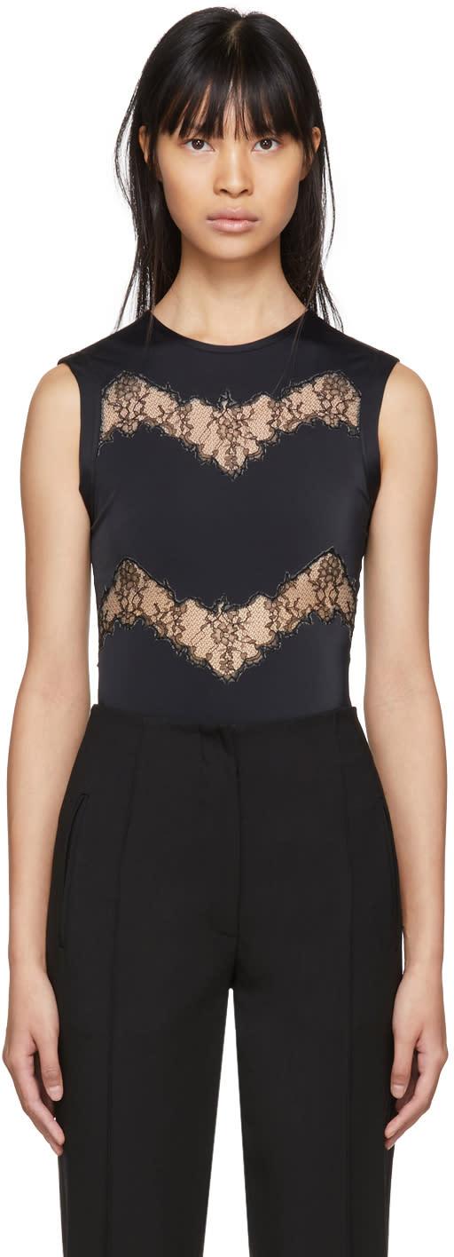 Valentino Black Lace Cut-out Bodysuit