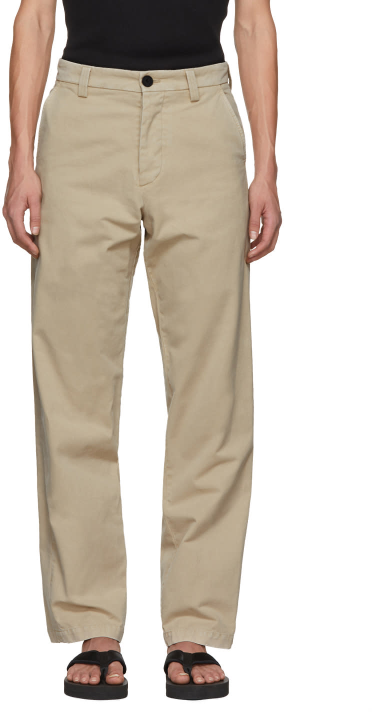 Image of Jw Anderson Beige Flax Chino Trousers