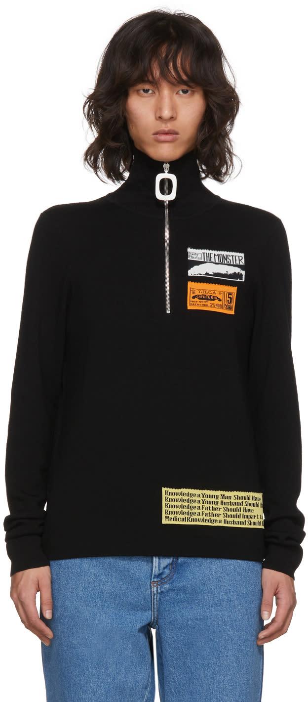 Image of Jw Anderson Black Bubblegum Zip Sweater
