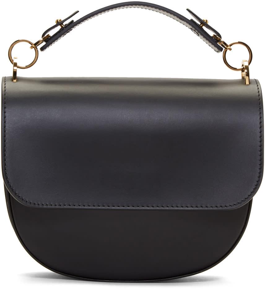 Image of Sophie Hulme Black Medium Bow Bag