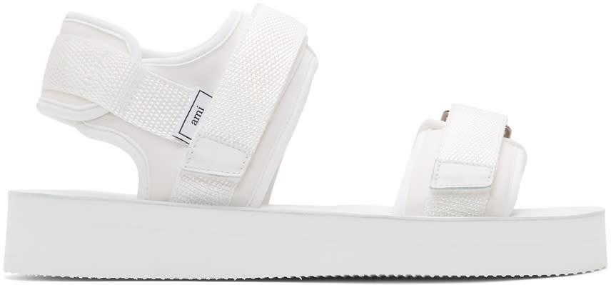 Ami Alexandre Mattiussi White Neoprene Sandals