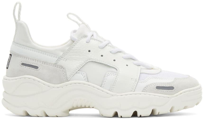 Ami Alexandre Mattiussi White Neoprene Running Sneakers