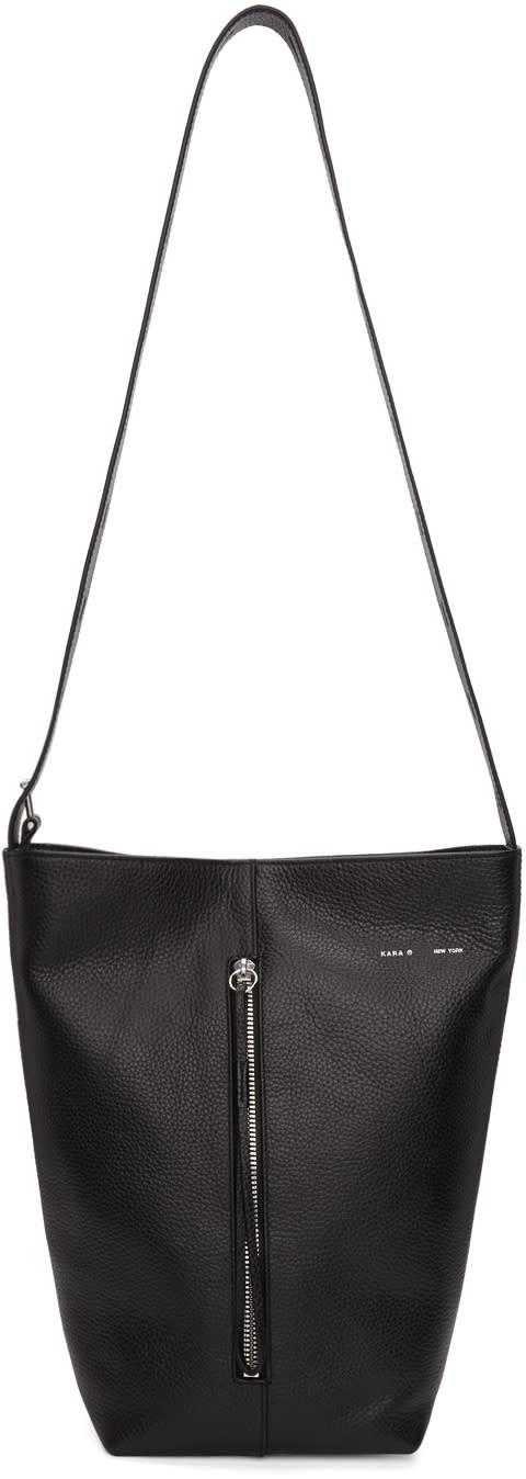 Image of Kara Black Panel Bucket Bag