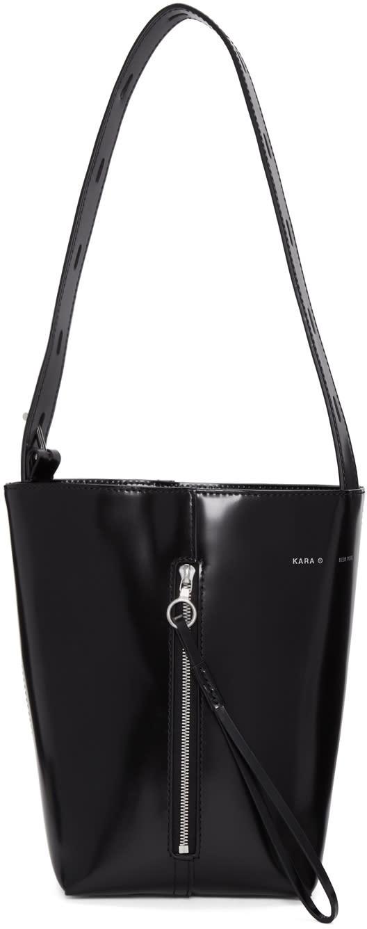 Image of Kara Black Panel Pail Bag