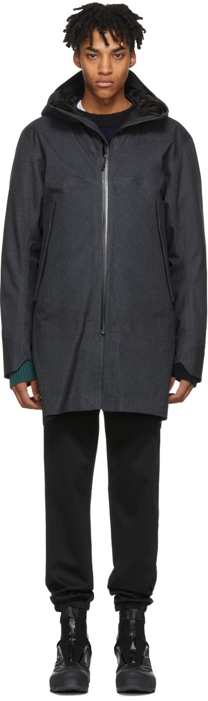 Image of Arcteryx Veilance Grey Down Monitor Coat