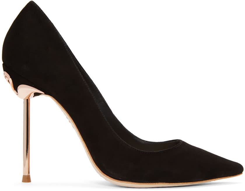 Sophia Webster Black Suede Coco Flamingo Heels