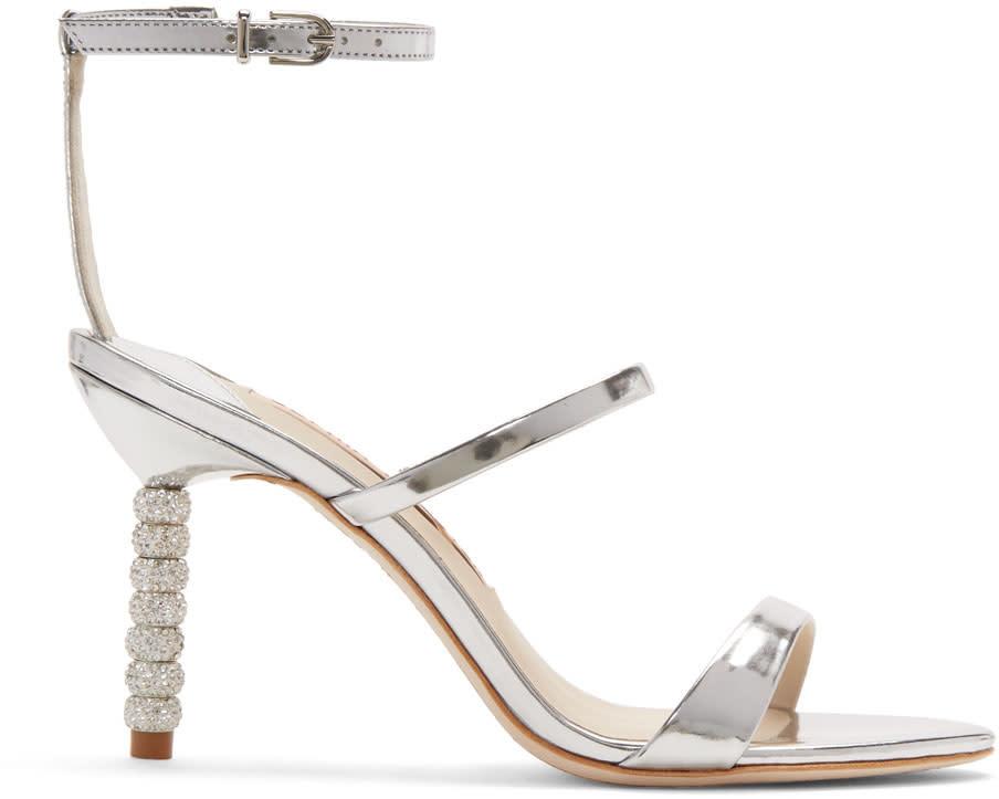 Sophia Webster Silver Metallic Rosalind Mid Sandals