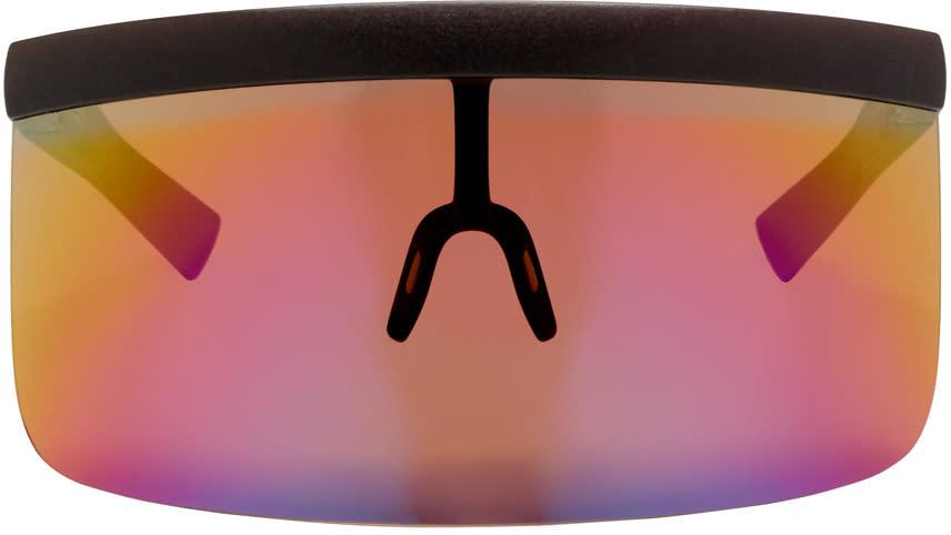 Image of Mykita Brown Bernhard Willhelm Edition Daisuke Shield Sunglasses